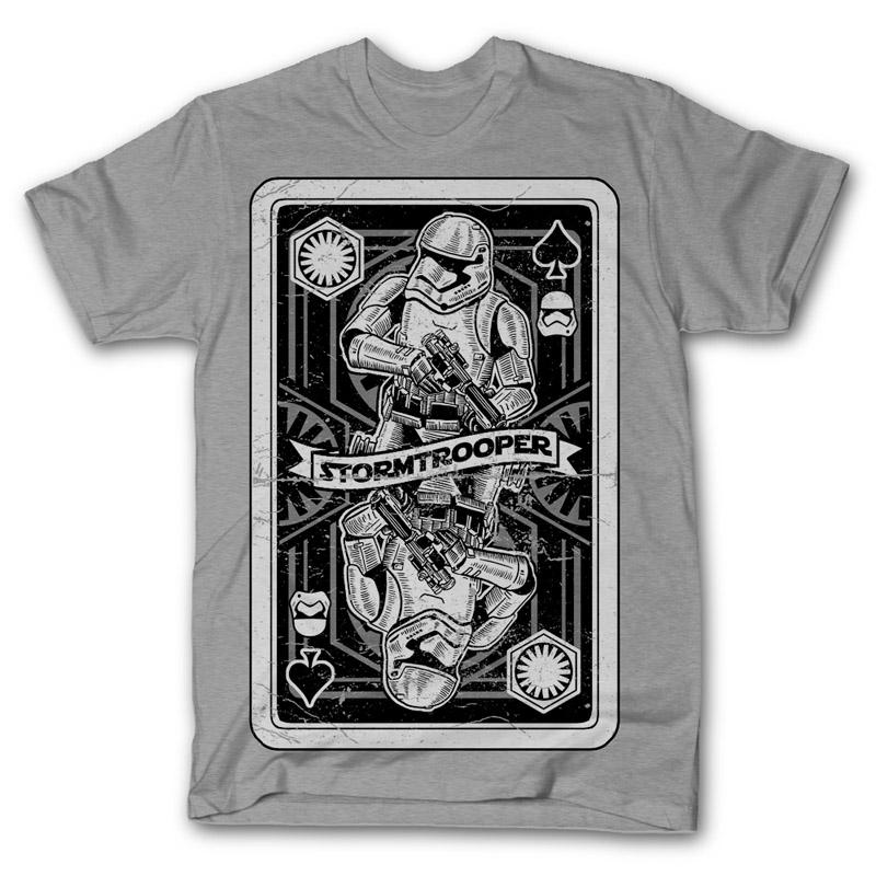 Stormtrooper Playing Card T-shirt design  f08267e4a