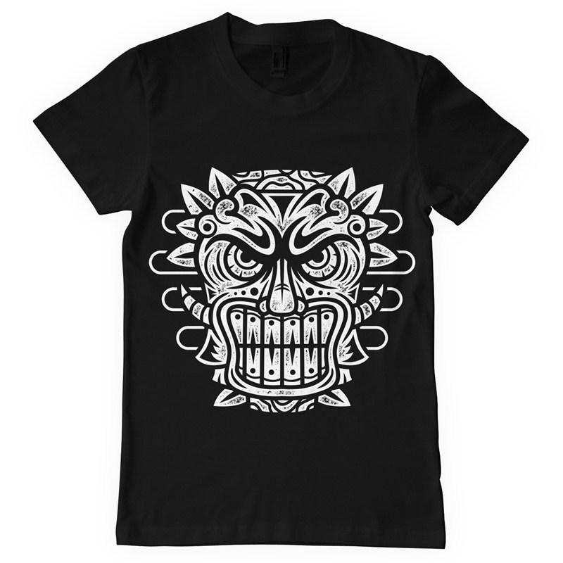 Tiki mask T shirt design | Tshirt-Factory