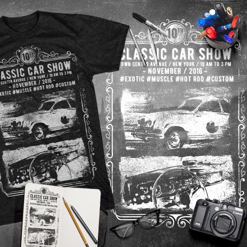 0c0e22fdd Classic Car Show Tee shirt design | Tshirt-Factory