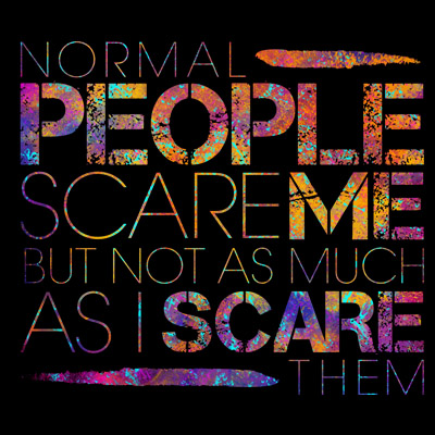 Normal People Scare Me T Shirt Clip Art Tshirt Factory