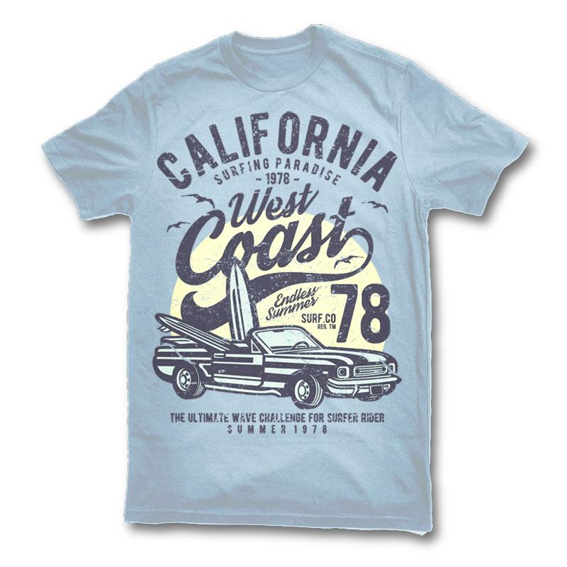 6a2890f71a3 California West Coast T-shirt design
