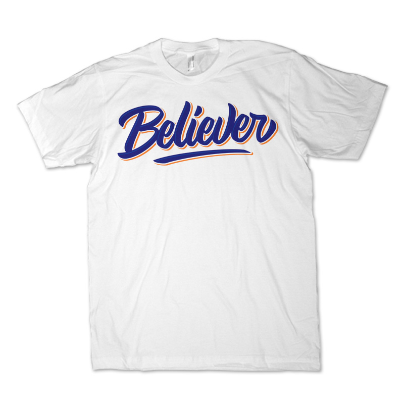 2d7cd05cb BELIEVER Lettering Tee shirt design | Tshirt-Factory