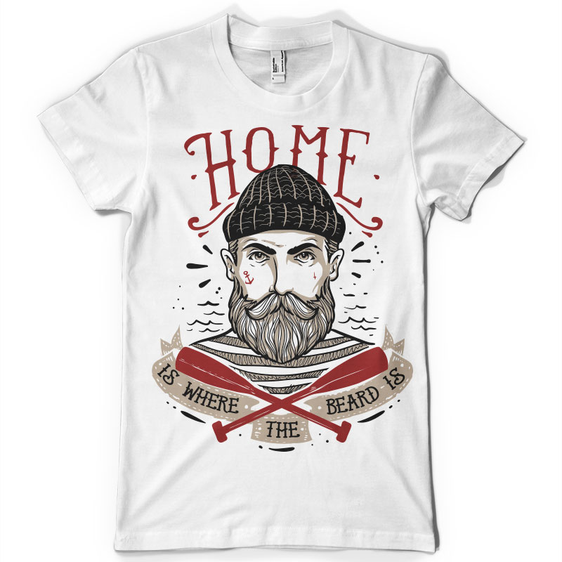 Home Is Where The Beard Is Shirt Design