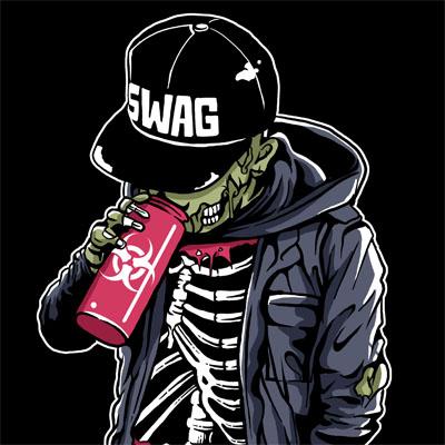 Swag Zombie T Shirt Design Tshirt Factory