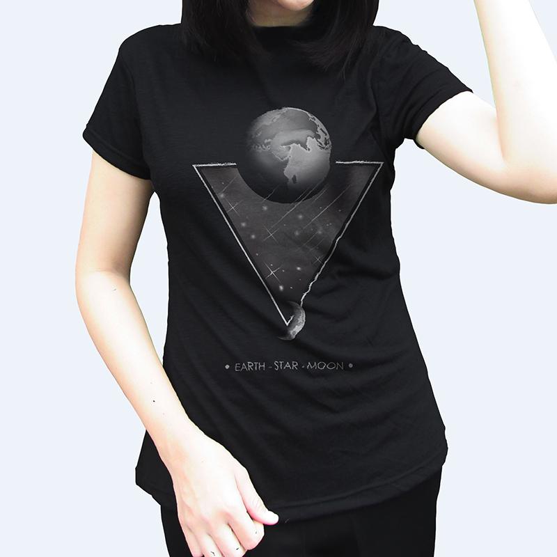 the earth star moon t shirt design tshirt factory