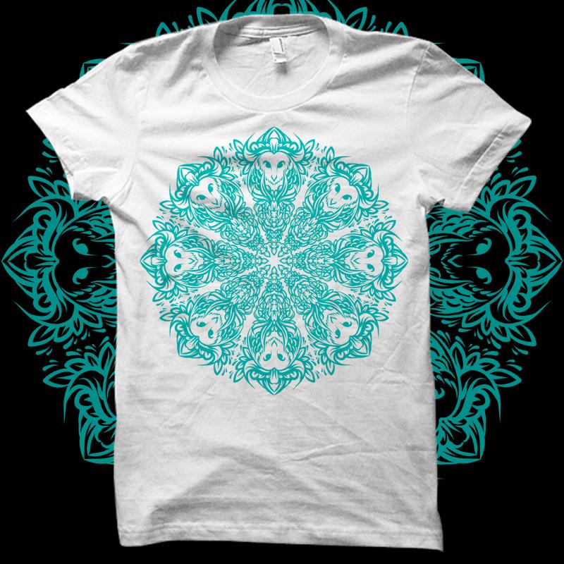 Mandala Owl T-shirt design | Tshirt-Factory