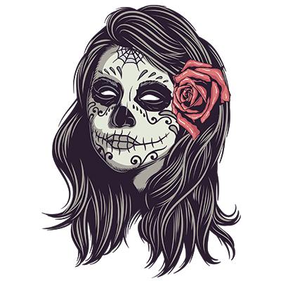 Sugar Skull Girl Tshirt Factory