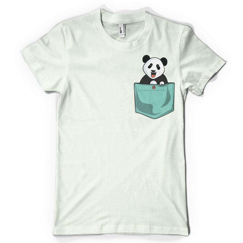 Panda Pocket T Shirt Design Tshirt Factory