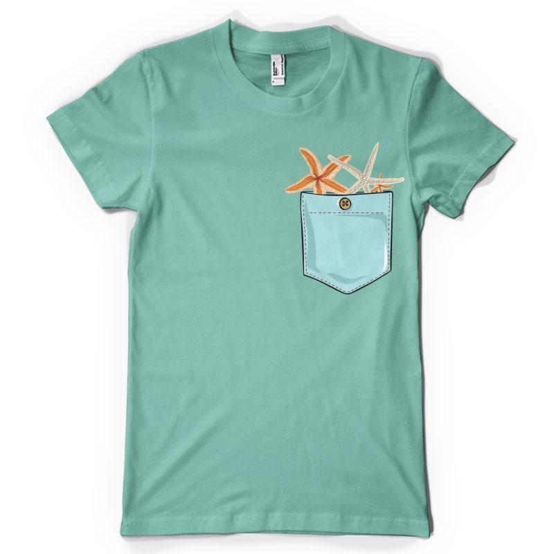 Seastar Pocket Tee Shirt Design Tshirt Factory