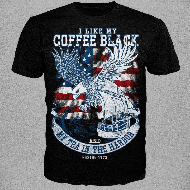 Prty Of T Shirt Designs | Boston Tea Party Shirt Design Tshirt Factory