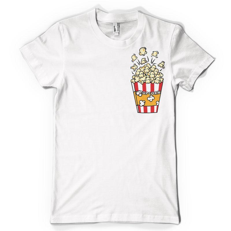 Popcorn Pocket T Shirt Design Tshirt Factory