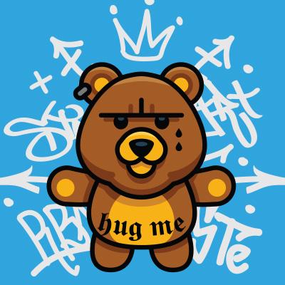 Gangsta Bear Graphic Design Tshirt Factory