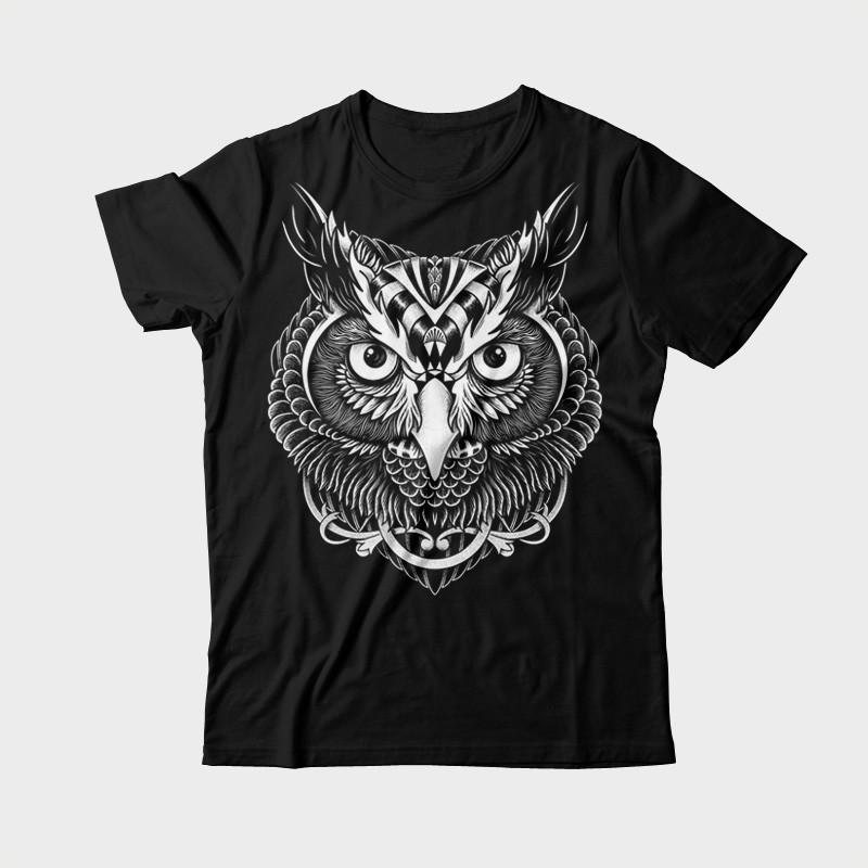 Owl Ornate Tee shirt design | Tshirt-Factory