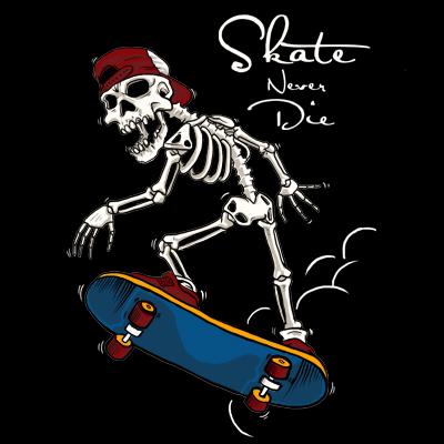 cdd9c03f7a06 skull skate T-shirt clip art | Tshirt-Factory