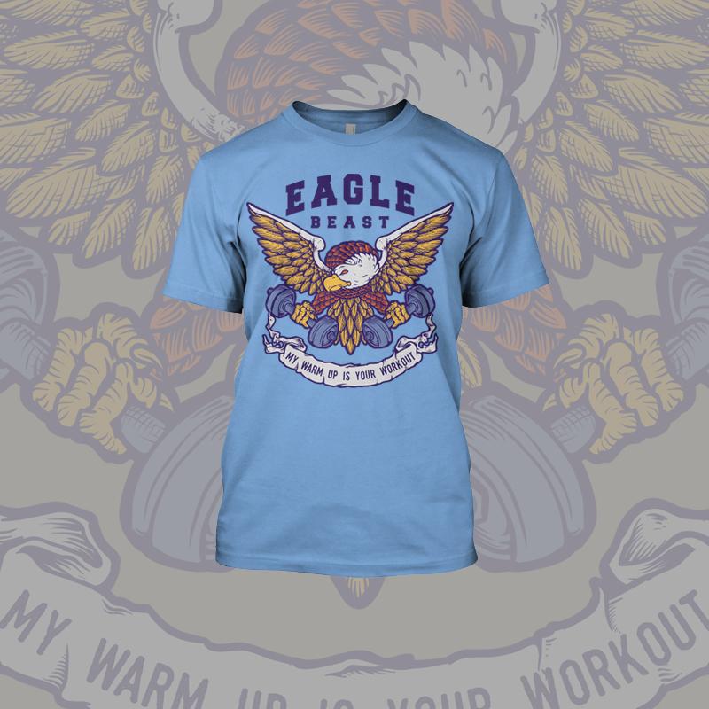 Eagle T Shirt Designs | Eagle Beast Fitness Tee Shirt Design Tshirt Factory