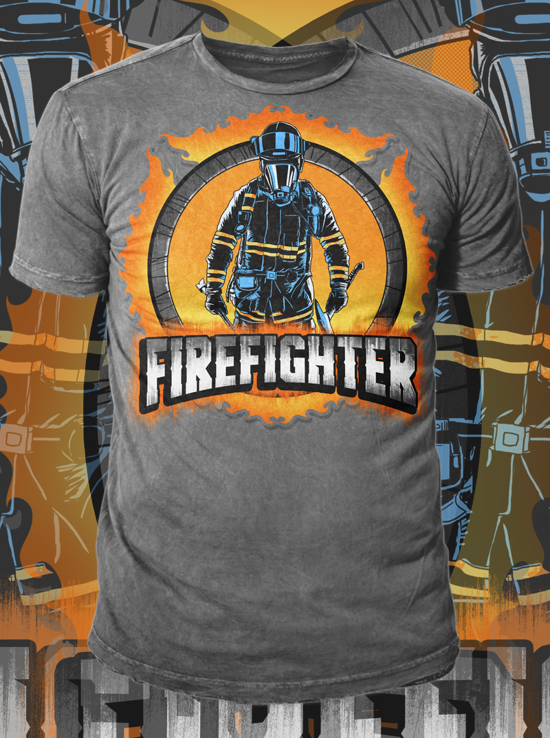 b76da302 Firefighter T Shirts Design