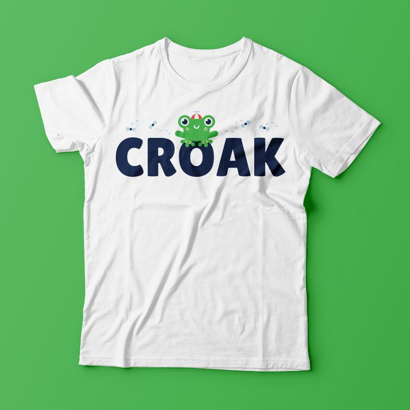 ac7398fa Croak Frog tshirt Shirt design   Tshirt-Factory