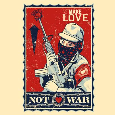 MAKE LOVE NOT WAR 2 Shirt design | Tshirt-Factory