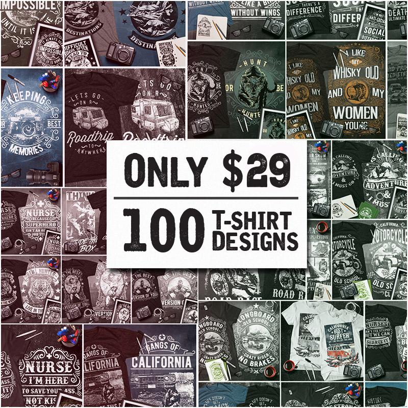 75531d60 Valentine's Bundle: 100 Tshirt Designs