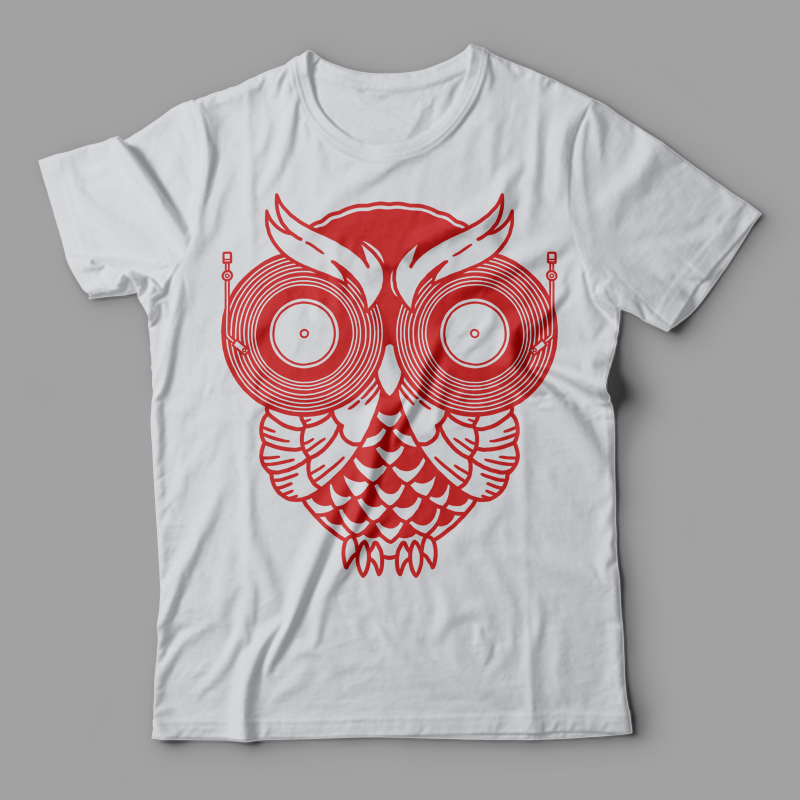 Classic Owl Tee shirt design | Tshirt-Factory